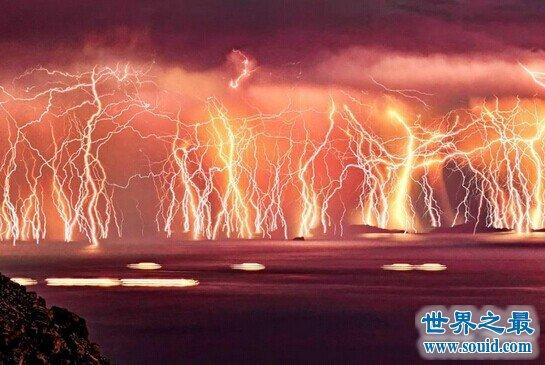 世界上闪电最多的地方,马拉开波湖(1年有297天闪电)